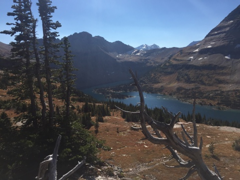 Glacier Park in Montana in the fall.