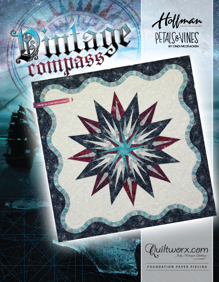 Vintage Compass Cover Sheet_Hoffman Cindi McCracken Petals and Vines