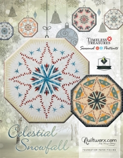 Celestial Snowfall Tree Skirt Cover Sheet