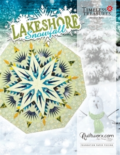 Lakeshore Snowfall Tree Skirt Cover Sheet