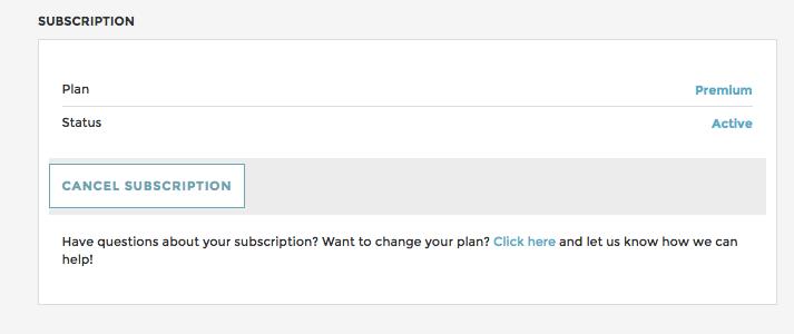 Cancel Subscription Premium